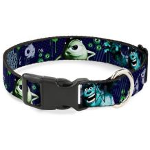 Buckle-Down Dog Collar Plastic Clip Monsters University Sully Mike Poses Grrrrr Available In Adjustable Sizes For Small Medium Large Dogs