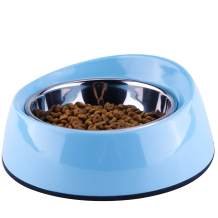 Super Design Dog Cat Bowls Melamine Stand Stainless Steel Pet Bowls for Small Medium Large Dogs and Cats
