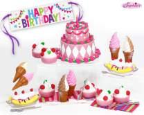 Sophia's Mini 18 Inch Doll Food Set, Complete Sweet Treat Set w/ Frozen Yogurt, Cake, Banana Split, Ice Cream & Banner Doll Accessories for 18 Inch Doll Tea Party, Doll Item