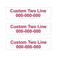 """3 Pack Customized 2-Line Rider Signs - 6"""" Tall x 24"""" Wide - Waterproof Corrugated Plastic Double Sided Yard Signs- Choose Your Sign & Font Colors (White Background Red Text)"""