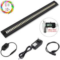 Ultra Thin Dimmable LED Under Cabinet Lighting 30cm/12in Nature White 450LM CRI90 with All Accessories Under Counter Lights Kit, Closet Light bar