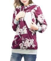 NIPINUS Women's Nursing Hoodie Zipper Breastfeeding Shirt Maternity Sweatshirt with Pocket