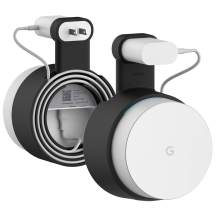 elago Google WiFi Wall Mount - Easy to Install/Move, No Screws Needed, Cable Management, Space Saving (Black)