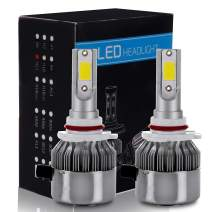 ECCPP 9005/HB3 LED Headlight Bulb Hi/Lo Beam White Fog Lights Conversion Kit - 80W 6000K 10400Lm - 3 Year Warranty(Pack of 2)