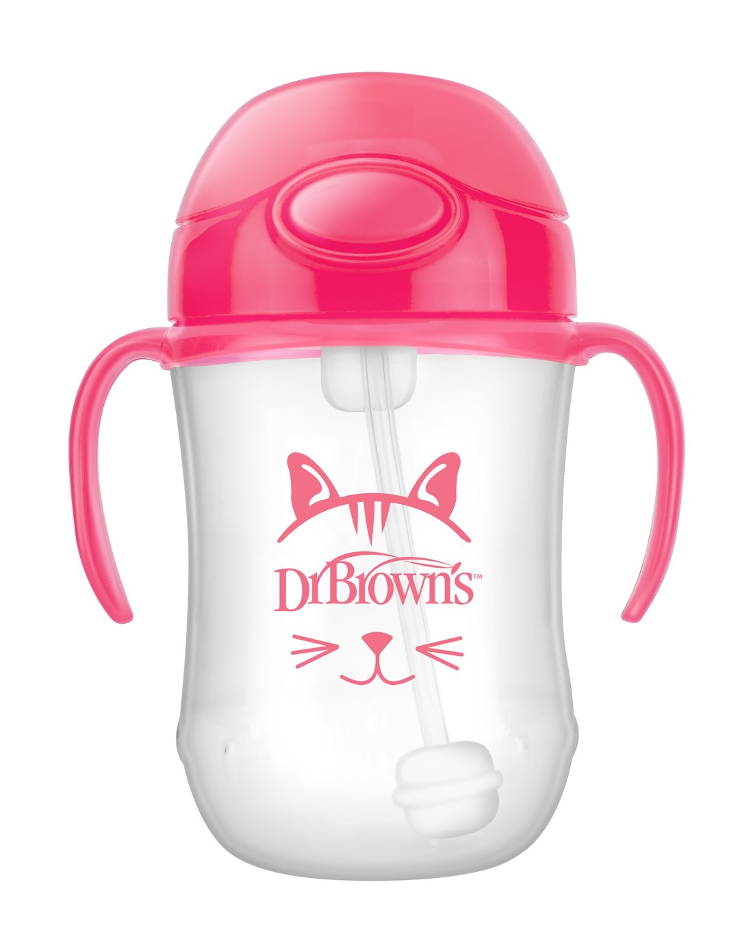 Dr. Brown's Soft Spout 9 Ounce Transition Cup, Pink, 6+ Months