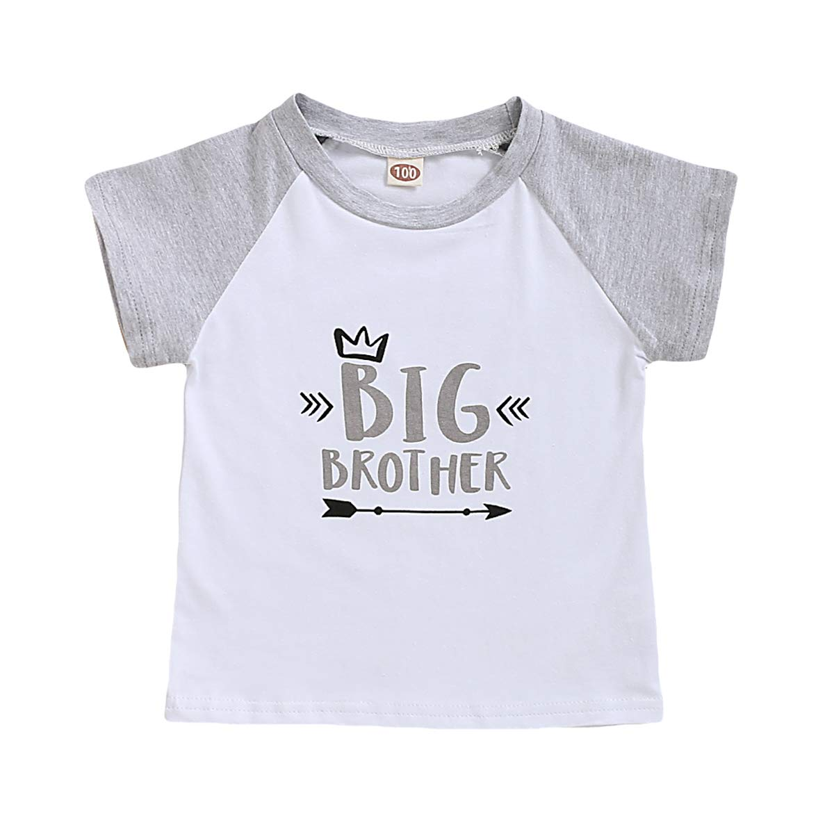 Big Brother Little Brother Matching Outfits Short Sleeve Letter T-Shirt Romper Siblings Set