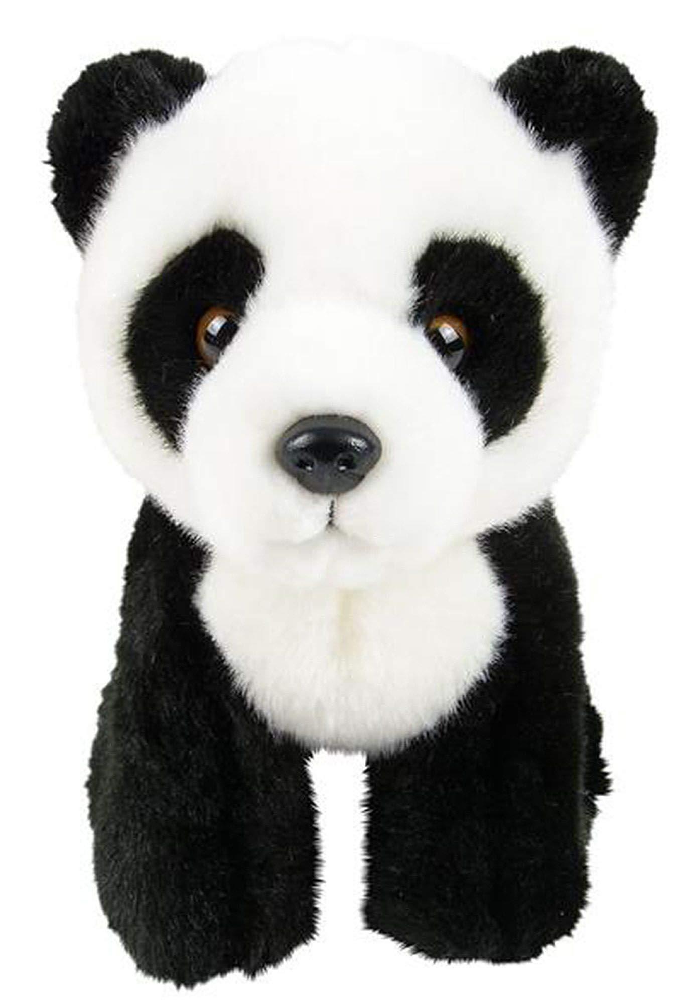 Wildlife Tree 7 Inch Stuffed Panda Bear Plush Sitting Animal Kingdom Collection