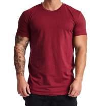 Magiftbox Mens Lightweight Cotton Workout Short Sleeve T-Shirts Essential Training Tee T22