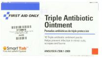 First Aid Only Triple Antibiotic Ointment Pack, 0.5 Gram, 10-Count