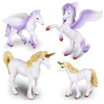 Ericoo Animal Toys Sets Educational Resource Relistic Unicorn Figures and Pegasus Fantastic Beasts Fingurines for Toddlers-Anim009