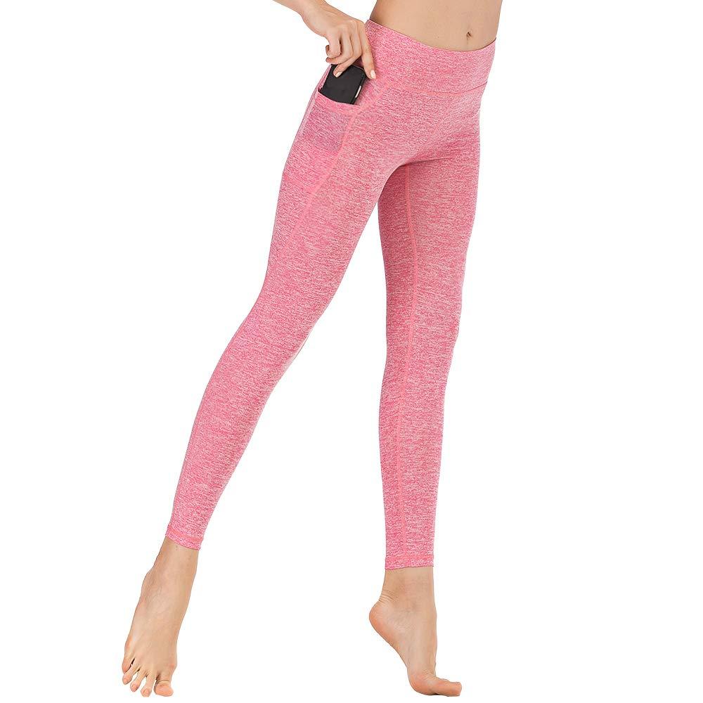ELCM Workout Leggings for Women Breathable Butt Lift High Waist Yoga Pants Tummy Control Running Yoga Leggings 4 Way Stretch