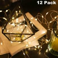 Nurluce Fairy String Lights Battery Operated 12 Pack with Timer 10ft 25 LED WarmWhite Mothers Day Decorations Lights Mini Christmas LED Lights Starry Twinkle Lights