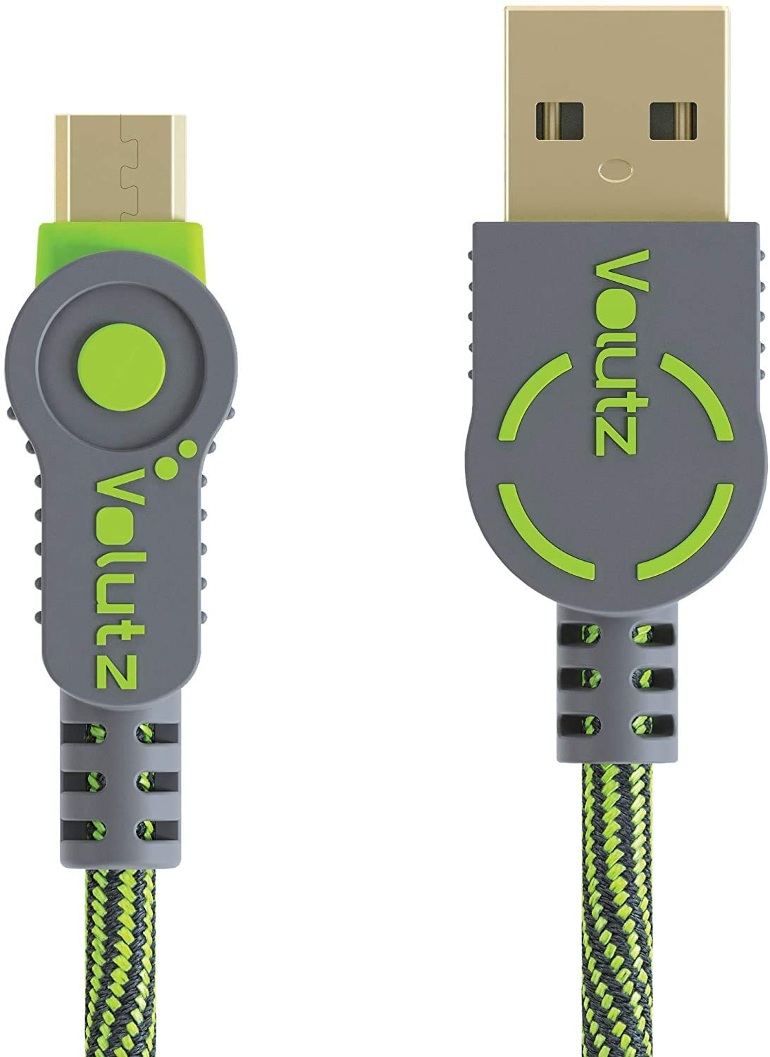 Volutz Micro USB Cable 10ft Extra Long Charging Cable for PS4 Controller, Braided Durable Fast Charger Cord for Samsung Galaxy S6 S7, Sony, LG, Kindle, Xbox One - 3M Moss Green - [ArmorCord]
