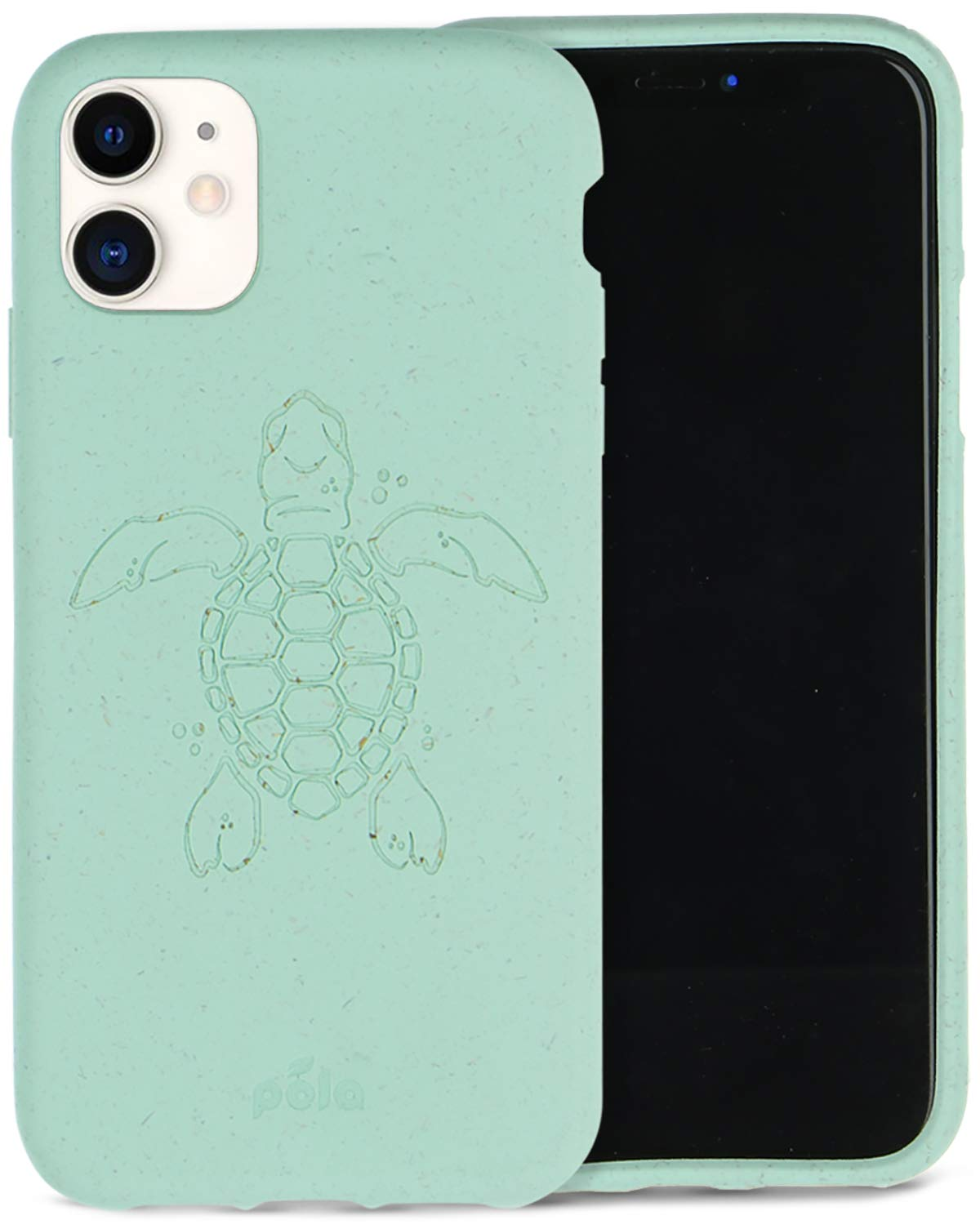 Pela: Phone Case for iPhone 11-100% Compostable and Biodegradable - Eco-Friendly - Made from Plants (11 Ocean Turtle)