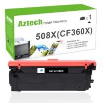 Aztech Compatible Toner Cartridge Replacement for HP 508X 508A CF360A CF360X Color Laserjet Enterprise M553N M553dn M553 M577 (Black, 1-Pack)