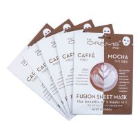 Fusion Face Mask - Caffeine and Dark Chocolate for Hydration, Complexion of Skin, Dark Circles, Puffy Eyes, Moisturizer, Oil Control, Korean Skin Care - Organic & Natural Essence 5 Sheets Set