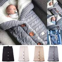 Newborn Baby Swaddle Blanket Fleece Stroller Wrap Nap Blanket Plus Velvet,Baby Kids Toddler Thick Knit Soft Warm Blanket Swaddle Sleeping Bag Sleep Sack Stroller