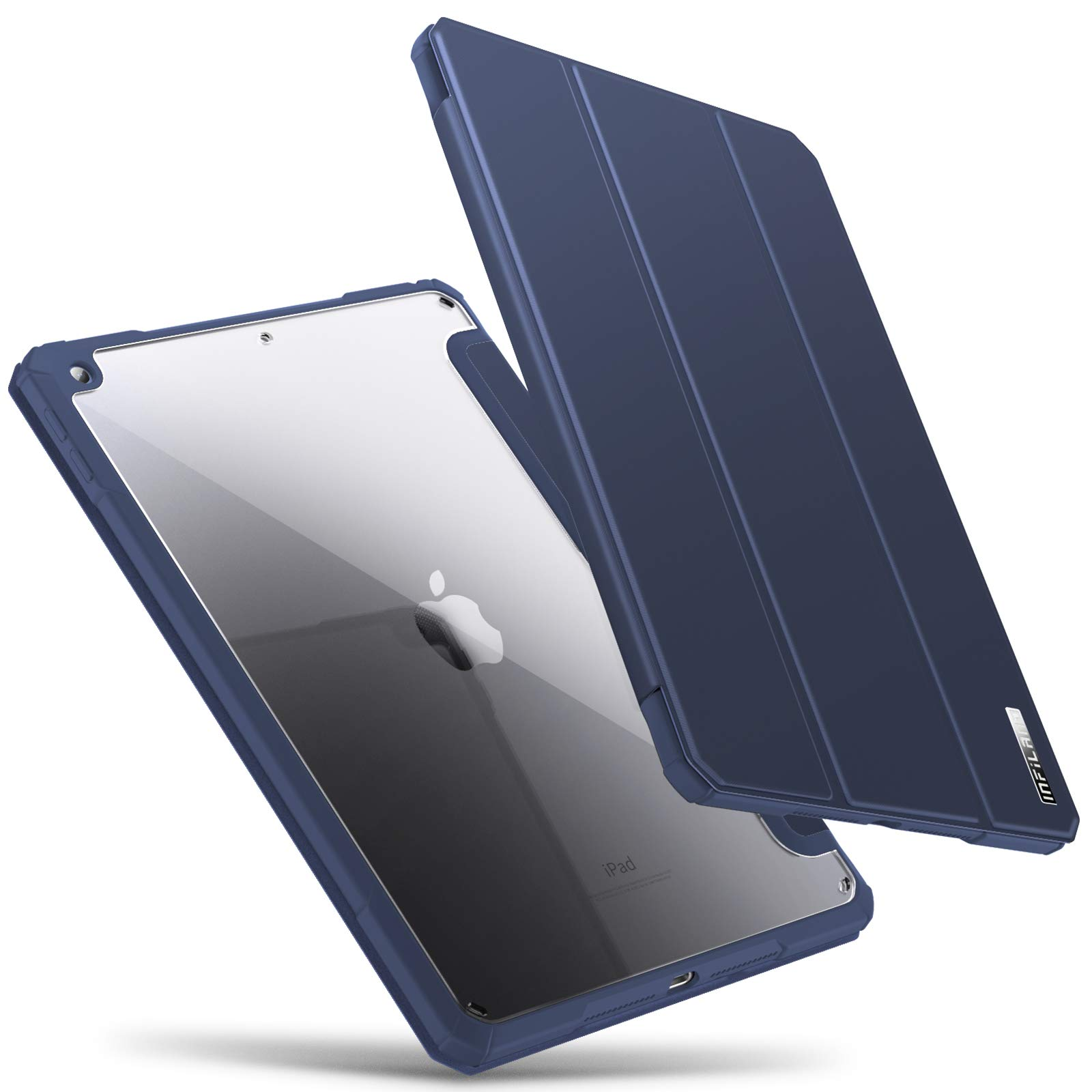 INFILAND iPad 9.7 case 6th Generation/ 5th Generation, Shockproof Ultra Slim Lightweight Rugged Protective Cover Case with Transparent Back for 9.7 inch iPad 6 (2018)/ iPad 5 (2017), Navy