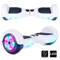 """CBD Chrome Hoverboard for Kids, 6.5"""" Bluetooth Self Balancing Hoverboard, Hoverboard with Bluetooth and LED Lights, UL 2272 Certified Hover Board"""