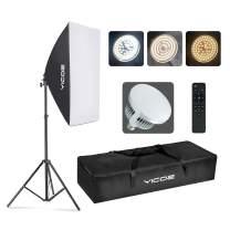"YICOE Softbox Photography Lighting Kit Professional Photo Studio Equipment 20""X28"" Studio Photography Light with 5700K Energy Saving Light Bulb for Filming,YouTube Video,Model,Advertising Shooting"