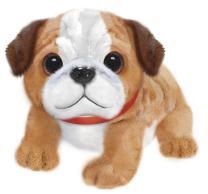 """First & Main 7"""" Tan & White Wuffles Bulldog Puppy Dog Basic Plush Toys"""