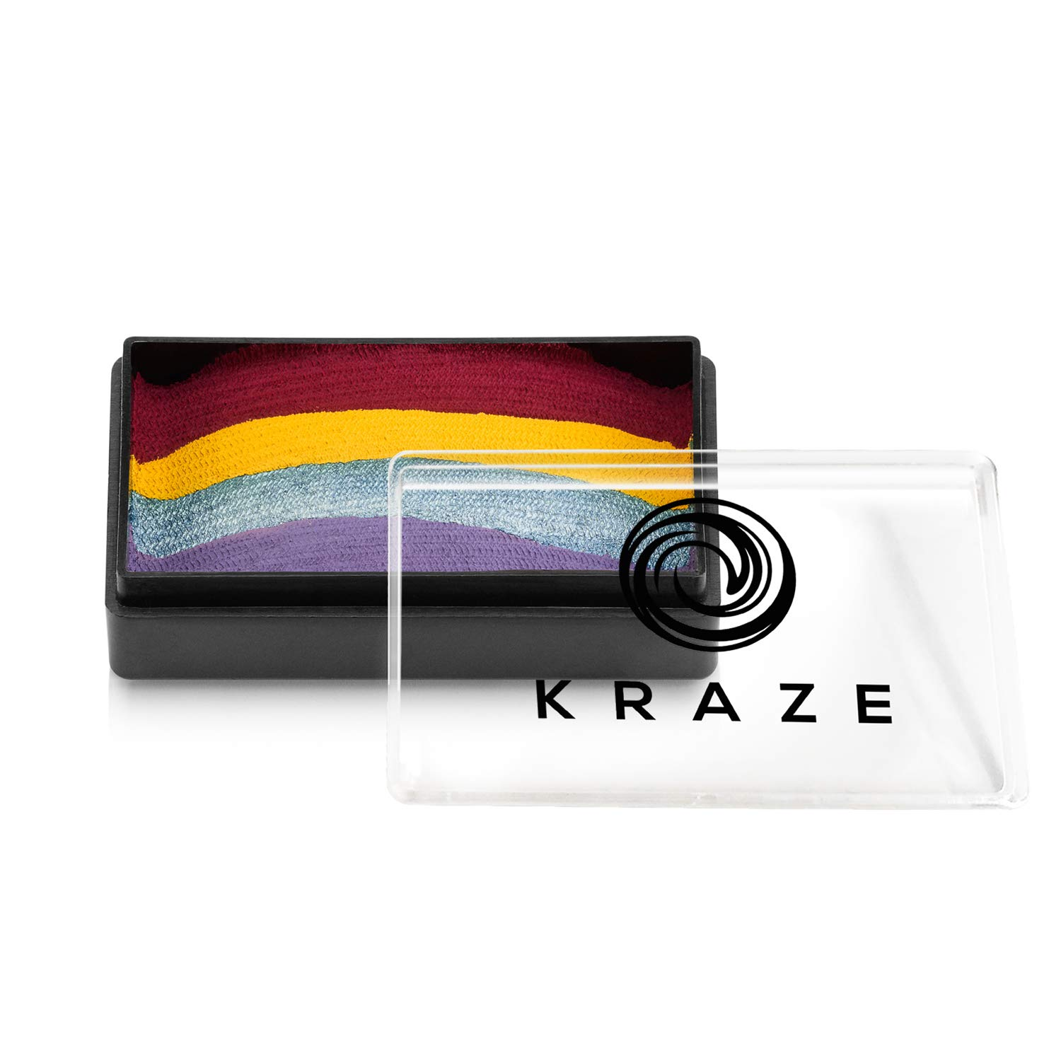Kraze FX Dome Stroke - Harbor Sunset (25 gm), Professional 1-Stroke Split Cake, Hypoallergenic, Non-Toxic, Water Activated Face & Body Painting Makeup Supplies for Sensitive Skin, Kid Safe, Adults