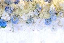 AOFOTO 10x7ft Beautiful White Blue Flowers Background for Wedding Photography Ladies Tea Party Girls Portrait Lovers Annivery Floral Backdrop Valentine Kids Adults Woman Mom Photo Studio Props