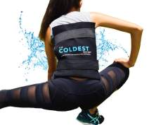 """The Coldest Ice Pack (Standard Large 11"""" x 14"""") Flexible Gel and Wrap with Elastic Straps Specific for Cold Therapy - for Back Leg Sprains, Muscle Pain, Flexi Bruises, Injuries - 11"""" x 14"""""""