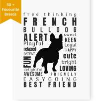 Dog Décor French Bulldog Wall Art - Quote Print (8x10 Unframed) | Pet Memorial Gifts | Dog Mom Gift | New Puppy Keepsake Gifts for Dog Lovers
