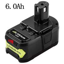 6.0Ah P108 Battery Replacement for Ryobi 18V One Plus Lithium Battery Replacement for Ryobi 18-Volt ONE+ P102 P103 P104 P105 P107 P109 P122
