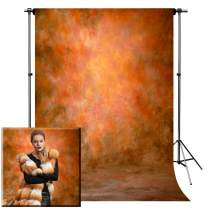 Photo Backdrop, econious 5x7ft Retro Art Lava Color Portrait Backdrop for Photography, Resistant Fleece-Like Cloth Fabric, with Rod Pocket (Backdrop Only)