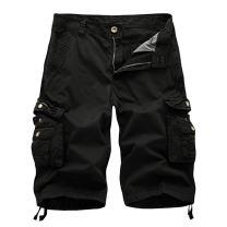OEAK Men's Twill Cargo Shorts Multi Pockets Work Outdoor Wear Black US 36