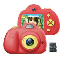 Vandico Kids Camera Best Gifts for 3-6 Years Old Girls, Shockproof Kid Camera with Soft Silicone Shell for Outdoor Play(8G TFcard Include) (Pink)