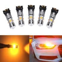 GFJMC 2 PW24W 25W High Power Amber Yellow Error Free PWY24W LED Bulbs For Audi A3 A4 A5 Q3 BMW i3 MINI Cooper F55 F56 Mercedes GLK Canbus Front Turn Signal Lights