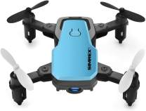 SIMREX X300C Mini Drone RC Quadcopter Foldable Altitude Hold Headless RTF 360 Degree FPV Video WiFi 720P HD Camera 6-Axis Gyro 4CH 2.4Ghz Remote Control Super Easy Fly for Training Blue
