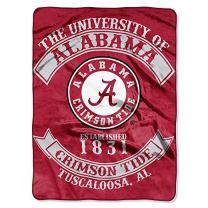"Officially Licensed NCAA ""Rebel"" Plush Raschel Throw Blanket, 60"" x 80"", Multi Color"