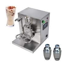 Intbuying Bubble Boba Milk Tea Shaker Machine Stainless Steel Double-Cup Auto for Restaurant 110V#134499