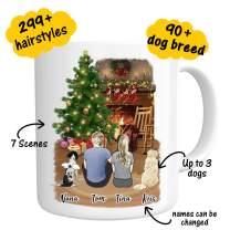 Custom Dog Mug Personalized Pet Name & Photo Coffee Mug on Christmas - Funny Pet Customizable Coffee Cup for Christmas Fur Mom From Dog Lover 11oz(couples)