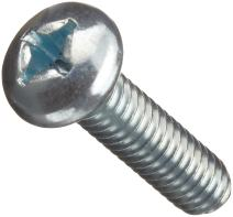 """Steel Machine Screw, Zinc Plated Finish, Pan Head, Phillips Drive, 3/8"""" Length, #4-40 Threads (Pack of 100)"""