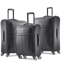 Samsonite Leverage LTE Softside Expandable Luggage with Spinner Wheels, Charcoal, 3-Piece Set (20/25/29)