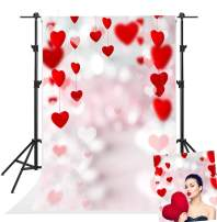 Kate 5x7ft Valentine Day Backdrops for Photoshoot Red Loveheart Bokeh Photo Backgrounds Holiday Party Decorated Backdrop Photography Props Baby or Portrait Background Studio