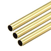 uxcell Brass Round Tube, 300mm Length 8.5mm OD 0.5mm Wall Thickness, Seamless Straight Pipe Tubing 3 Pcs