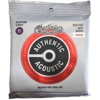 Martin Guitar Authentic Acoustic Lifespan 2.0 MA175T, 80/20 Bronze, Treated Custom-Light-Gauge Acoustic Strings