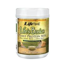 Lifetime Life's Basics Plant Based Protein Powder, Natural Vanilla, 1.22lb