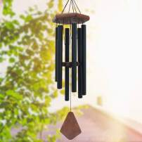 Wind Chimes Outdoor Deep Tone, 30 Inches Wind Chimes Outdoor, Memorial Wind Chimes with Hook as Gifts for Mother's Day/Housewarming/Christmas, Patio, Garden, Yard, Home Décor. Black