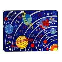 LISIBOOO Educational Kids Area Rugs, Playtime Collection ABC Numbers Animal Large Carpet Vibrant Alphabet Play Mat, for Children Bedroom Living Room Nursery Classroom (2'7''x3'11'', Cosmic Planet)