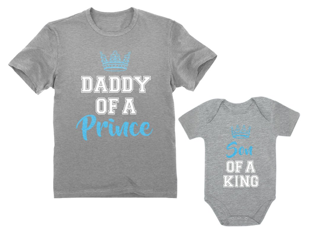 Daddy of a Prince & Son of a King Father & Baby Boy Matching Set Shirt Bodysuit
