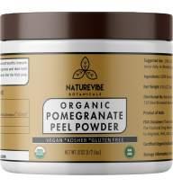 Naturevibe Botanicals Pomegranate Peel Powder 1/2Lb (8oz) - Organic Punica Granatum | Gluten Free & Non GMO | Skin Care...[Packaging May Vary]