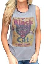 Women's Graphic Tees Talk to Me Goose Tank Tops Shirts Sunset Glasses Print Sleeveless Tees