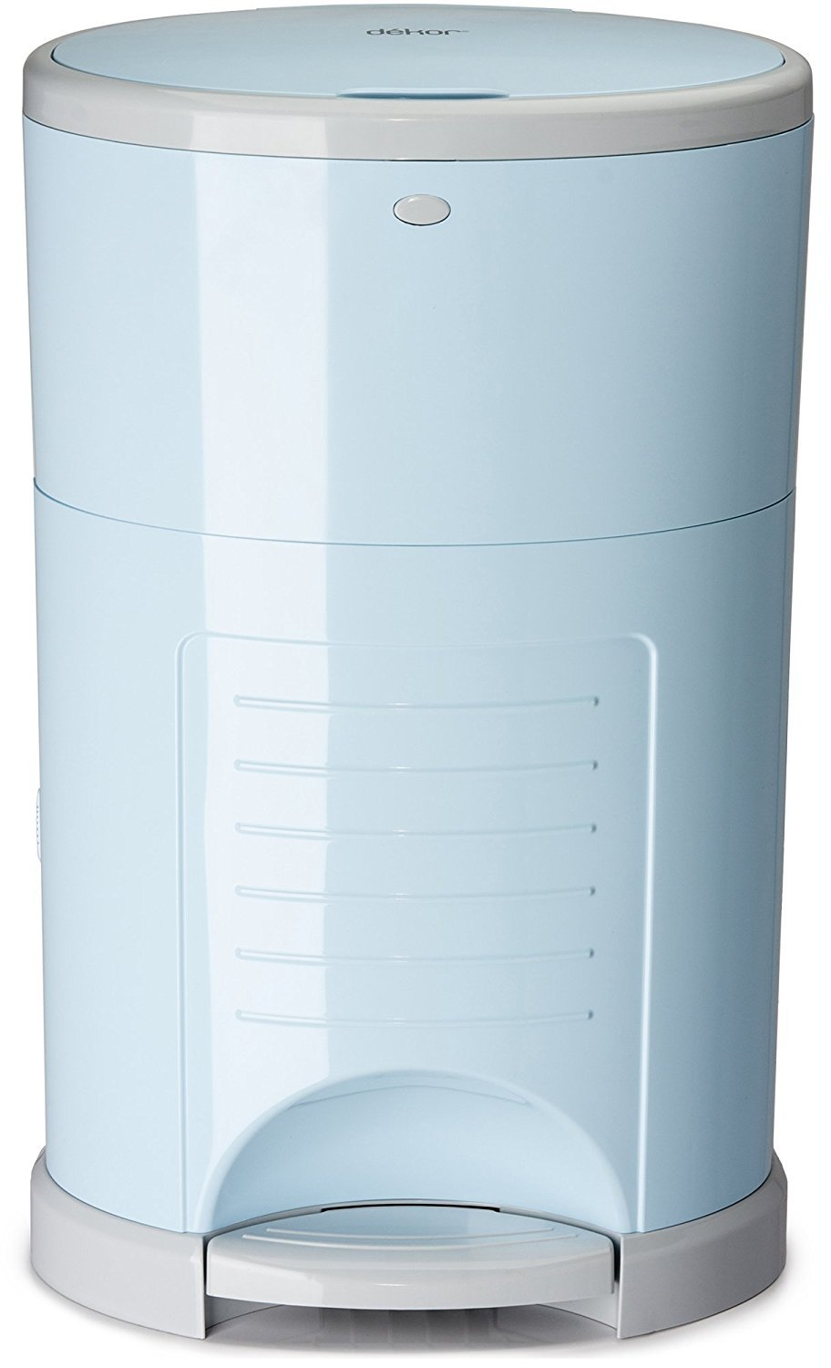 Dekor Plus Hands-Free Diaper Pail   Soft Blue   Easiest to Use   Just Step – Drop – Done   Doesn't Absorb Odors   20 Second Bag Change   Most Economical Refill System  Great for Cloth Diapers